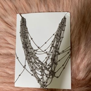Nwt silver necklace